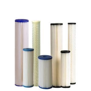 Gefaltete Filterkerzen